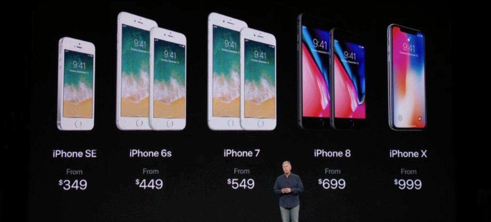 Todos los modelos de iPhone y su precio dentro de la presentación de Apple