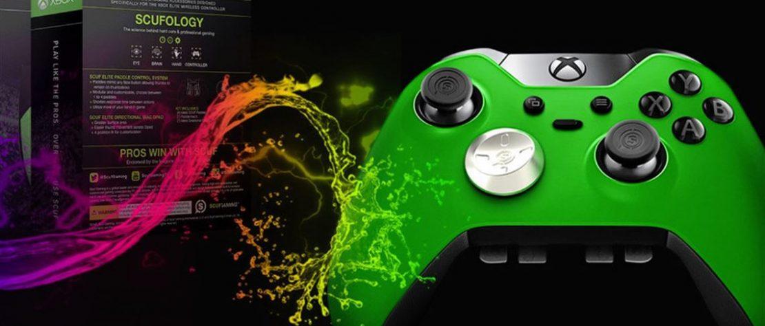 Control verde de Xbox fabricado por Microsoft