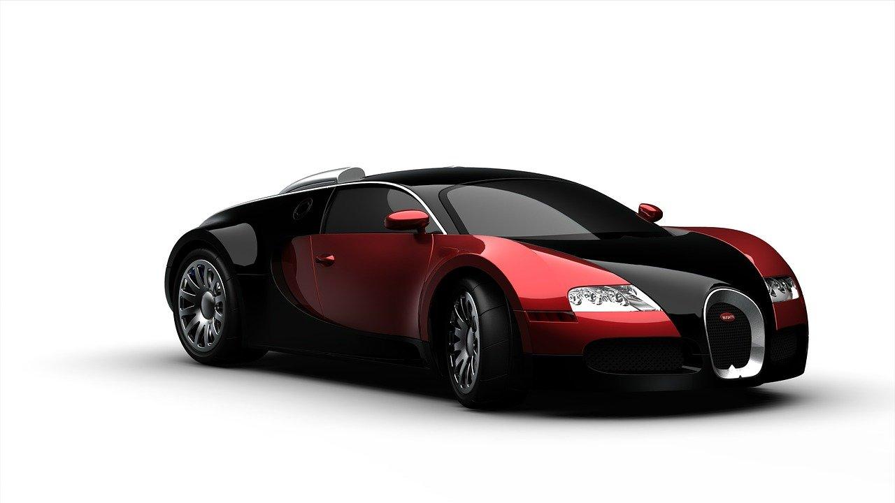 automóvil rojo con negro